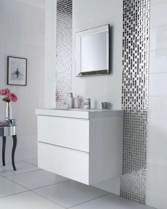 Idée décoration Salle de bain peinture carrelage salle de bain
