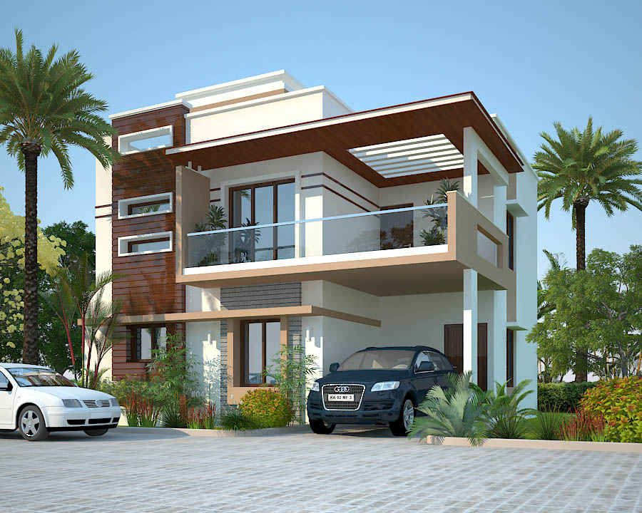 Realty compass project peninsula solitaire villa for Individual house front elevation