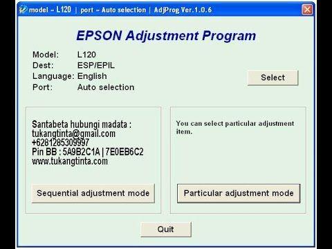 Cara Reset Memori Printer Epson L120 | Cara