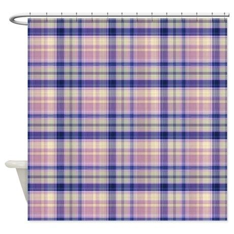 Pink And Blue Plaid Shower Curtain By Ibelieveimages With Images Plaid Shower Curtain Blue Plaid Curtains