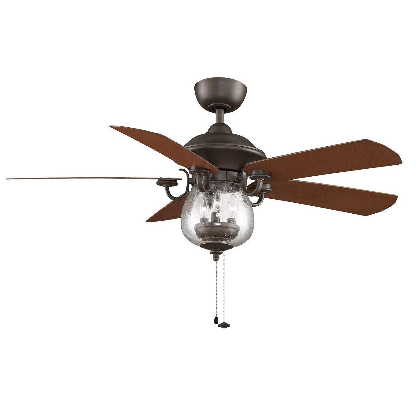 52 Crestford 5 Blade Outdoor Ceiling Fan Bronze Ceiling Fan