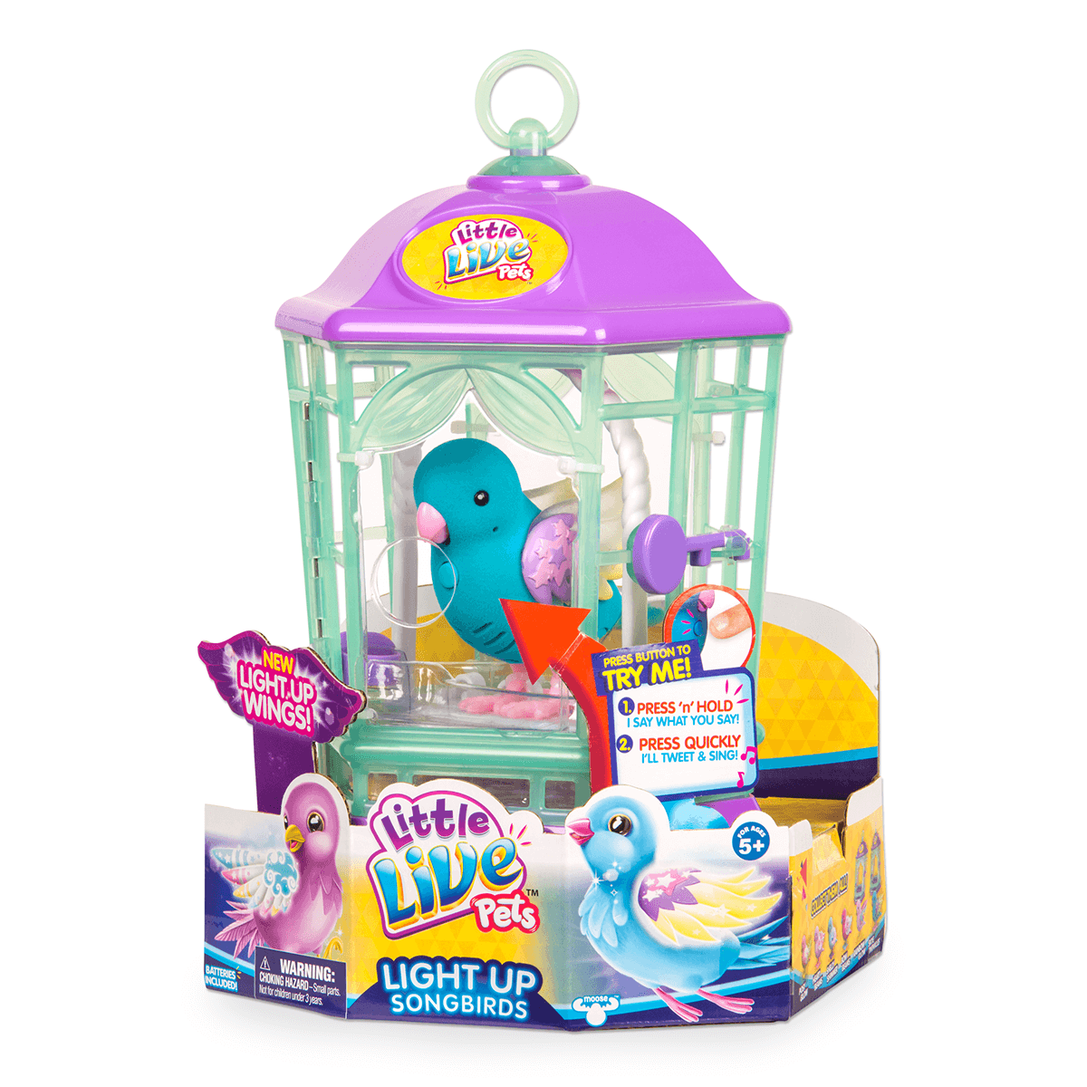 Little Live Pets Light Up Bird Cage Skye Twinkles Electronic Pets Dolls And Soft Toys All Categories The Toyshop Site Little Live Pets Light Up Gifts In A Mug