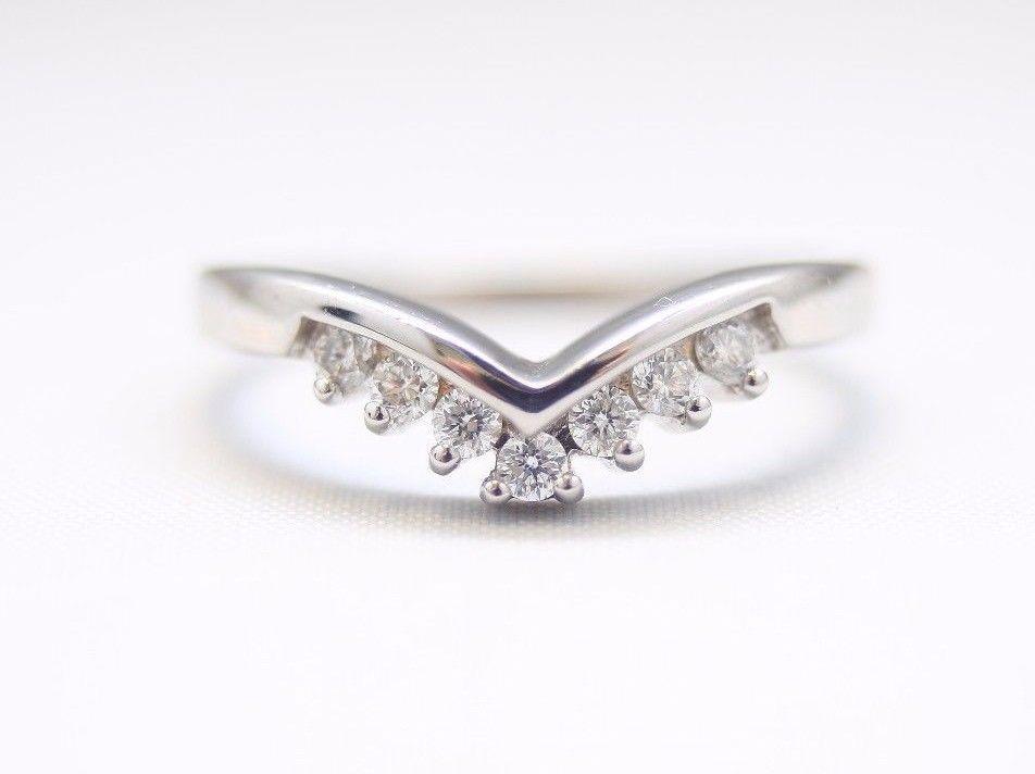 18k White Gold 0 25ct Diamond Wishbone Women S Wedding Ring Jewellery Luxury Ring Diamond Wedding Rings For Women White Gold Rings White Gold Wedding Rings
