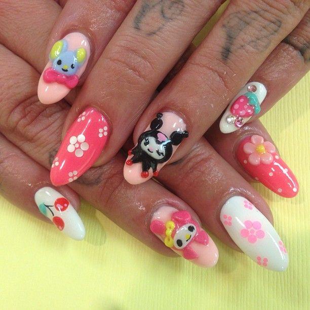 Kawaii Kuromi Nails | Kuromi\'s stuff(ღˇ◡ˇღ) | Pinterest | Kawaii ...