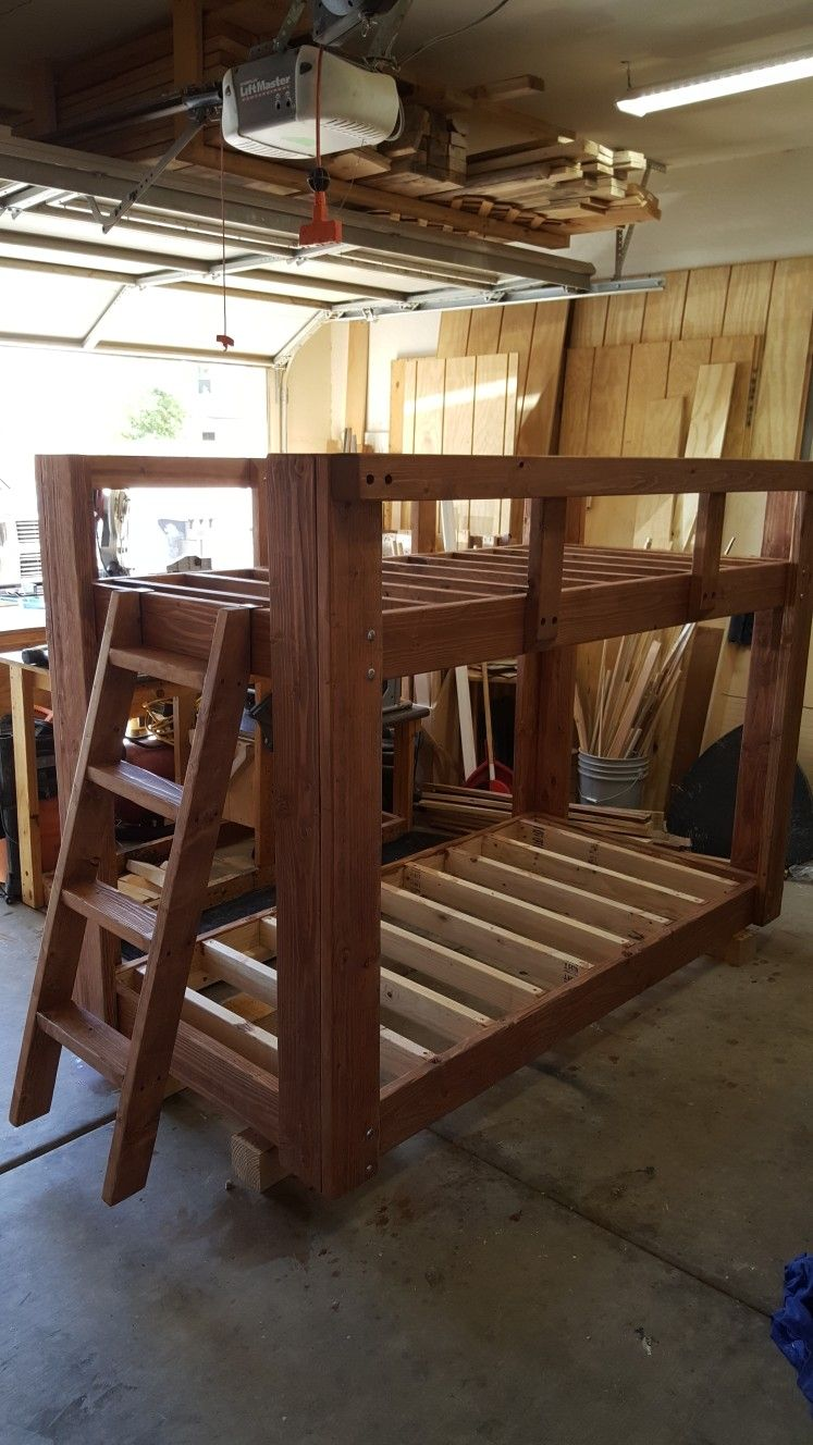 Twin Bunk Beds From 2x6 And 2x4 Lumber Projects I Ve Made Mostly