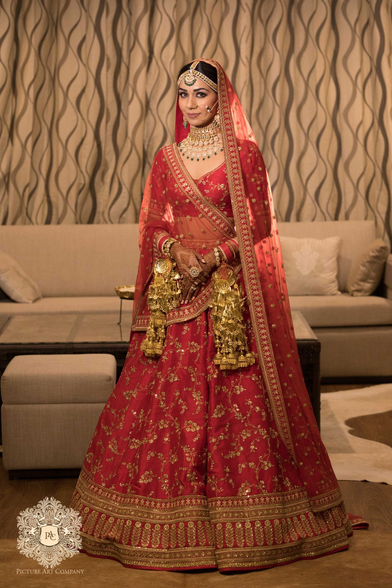 A Delhi Wedding With The Bride In A Shimmery Lehenga Bridal Lehenga Red Red Bridal Lehenga Sabyasachi Indian Bridal Dress [ 1950 x 1300 Pixel ]