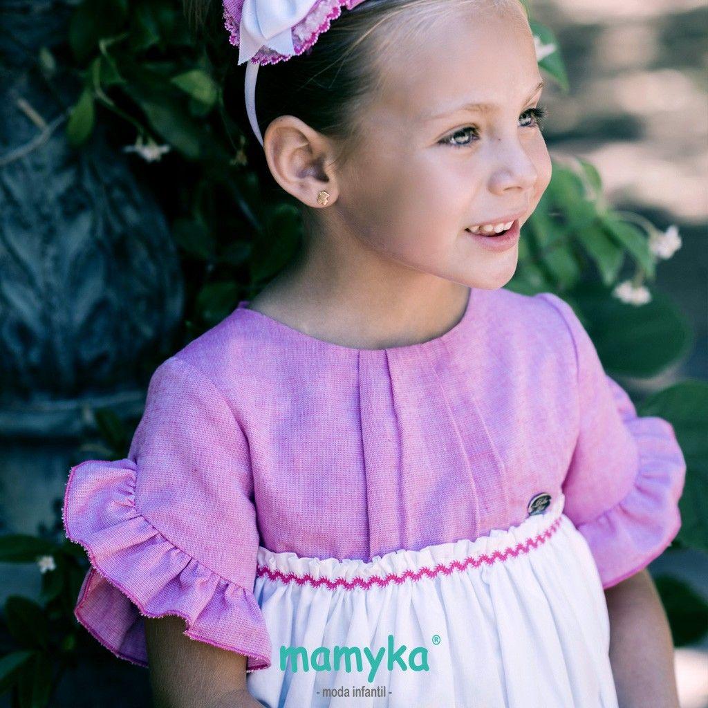 vestido blanco y rosa   dolce petit   Pinterest   Vestidos para ...