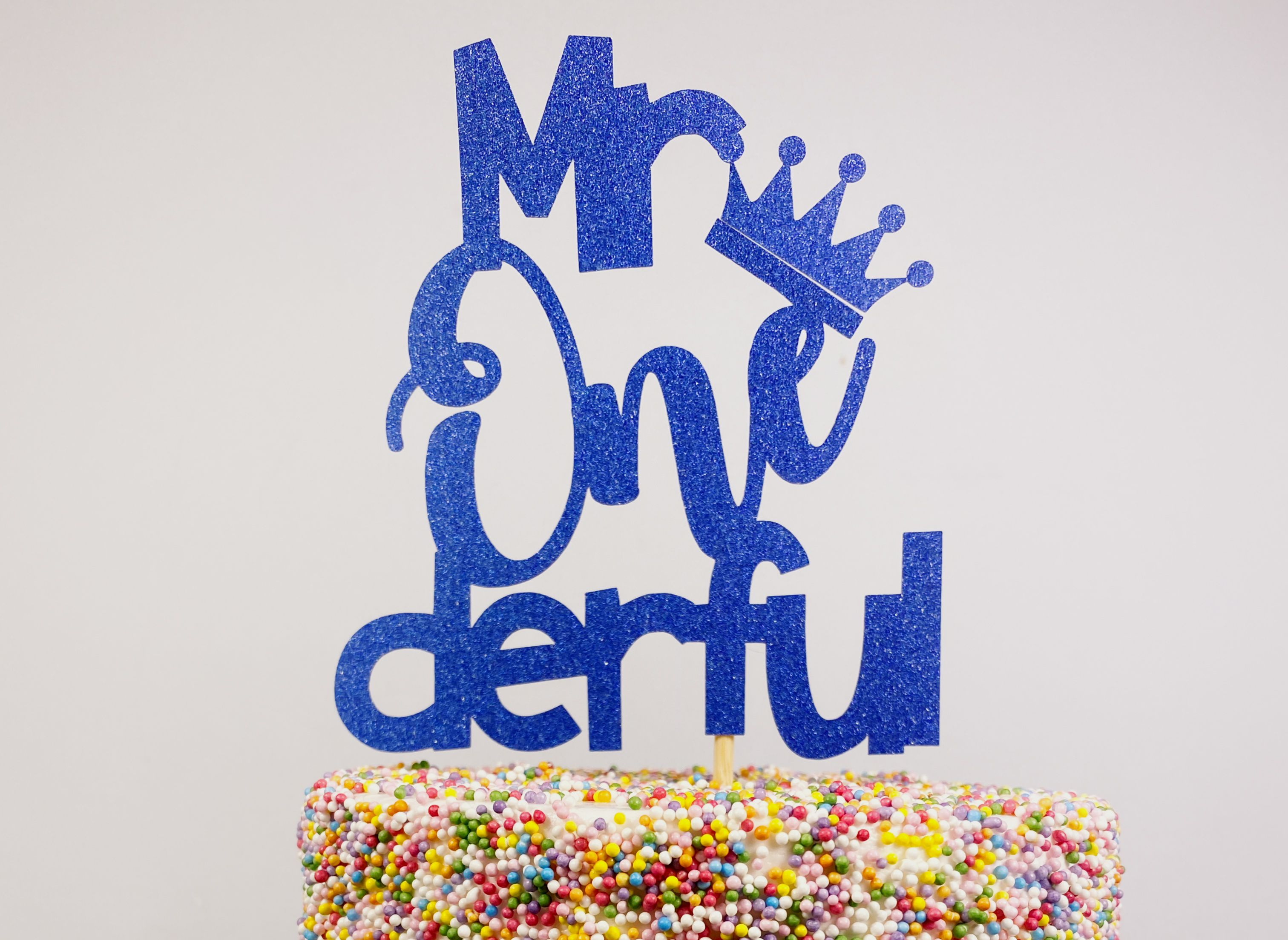 First 1st birthday cake toppers mr or miss onederful