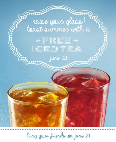 Free Iced Tea At La Madeleine June 21st Iced Tea Restaurant Coupons Grocery Store Coupons