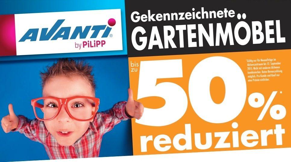 Gekennzeichnete GARTENMÖBEL bis zu 50%* reduziert!