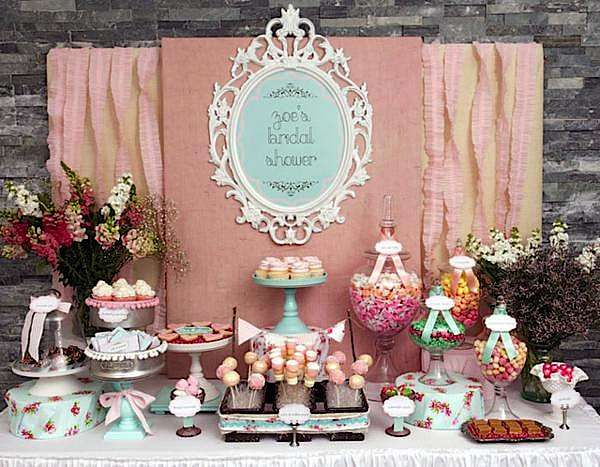 country bridal shower ideas shabby chic girl spring floral bridal shower party planning ideas