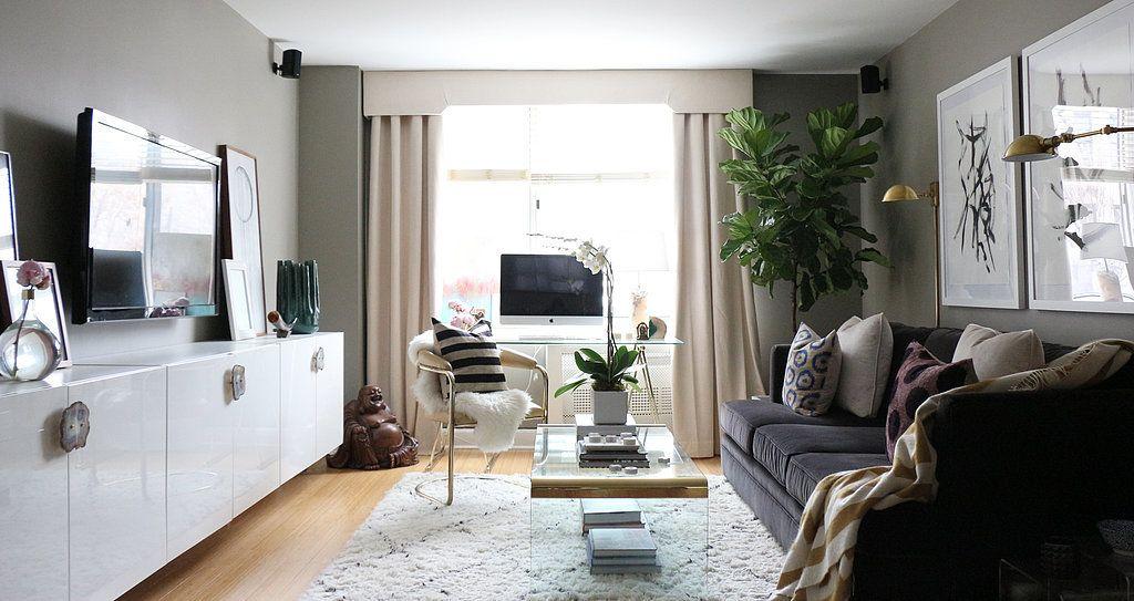 This Nyc Interior Designer S Apartment Is A Craigslist Hunter S Dream Apartment Living Room Layout Small Apartment Living Room Layout Small Apartment Living Room