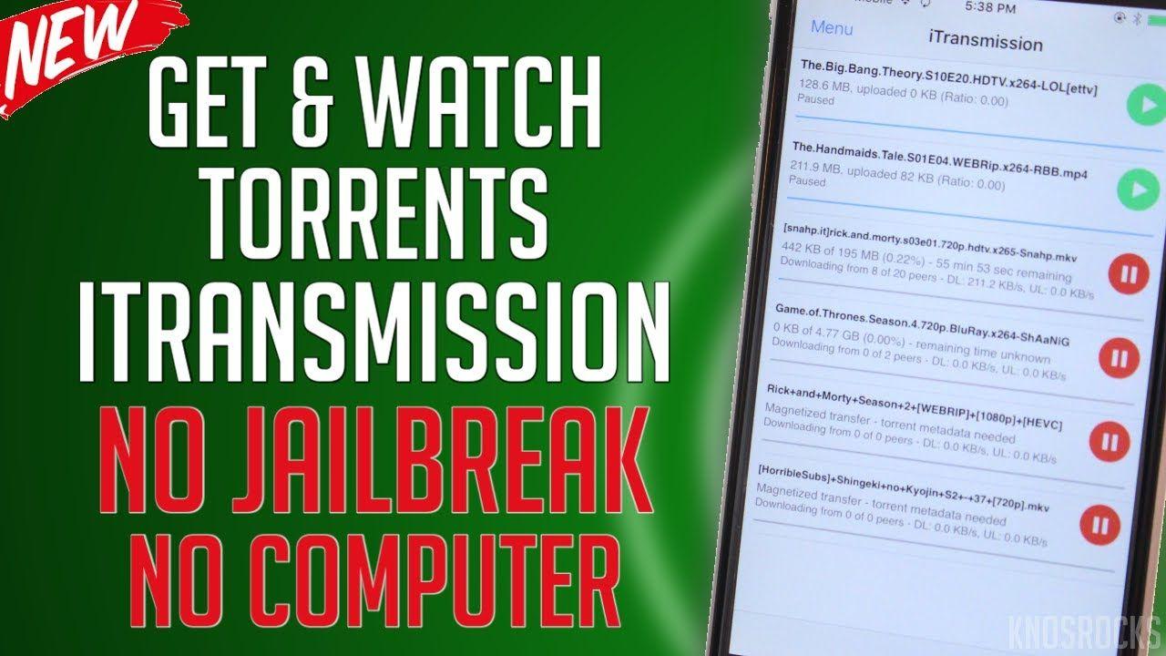 Download iTransmission iOS 11 - 10 / 9 No Jailbreak / PC Get & Watch