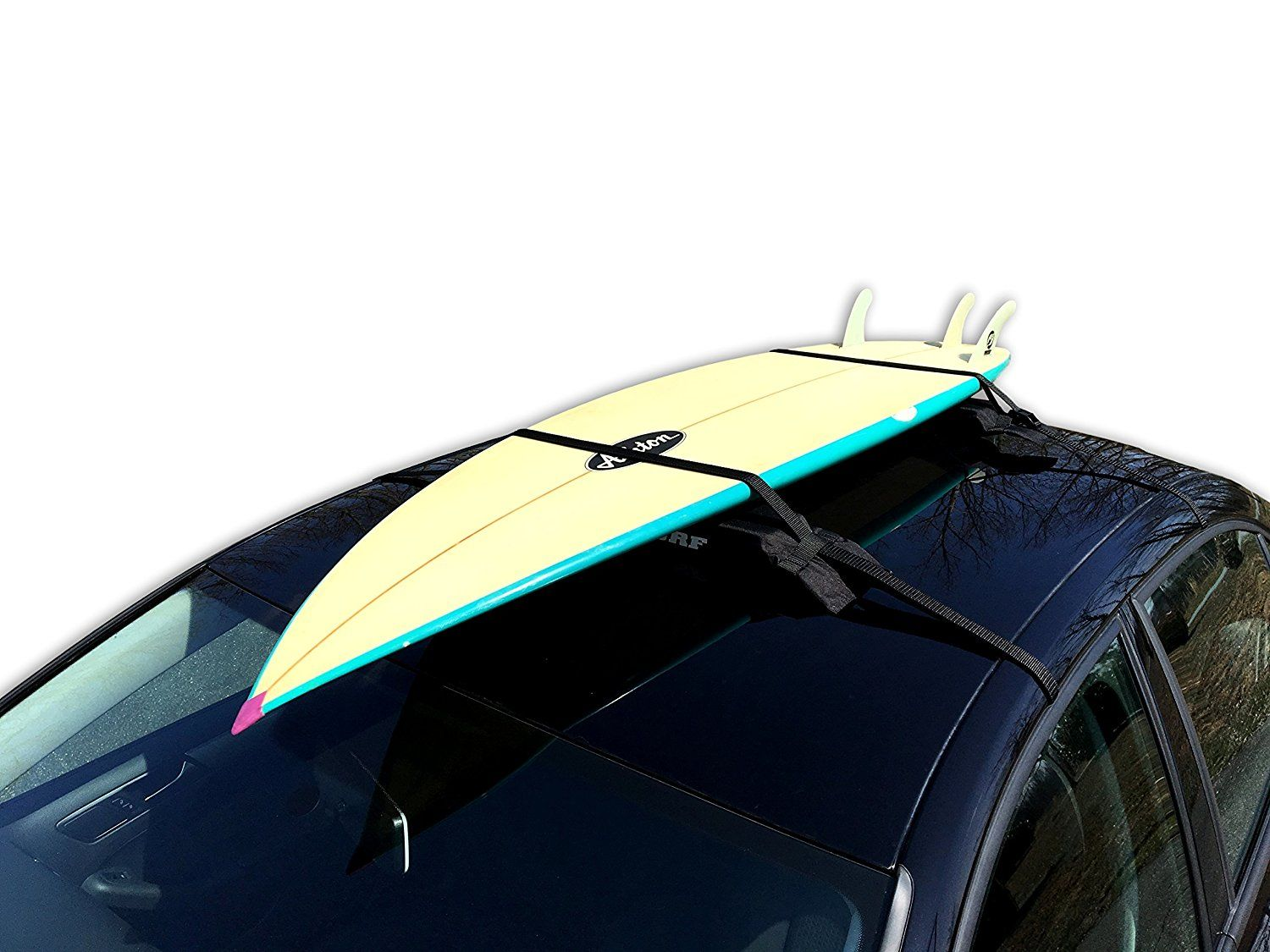 Block Surf Single Wrap Surfboard Rack Flexible Rack Fits Cars With Or Without Gutters The Single Rack Will Carry Up To Two Su Fit Car Surfboard Rack Surfing