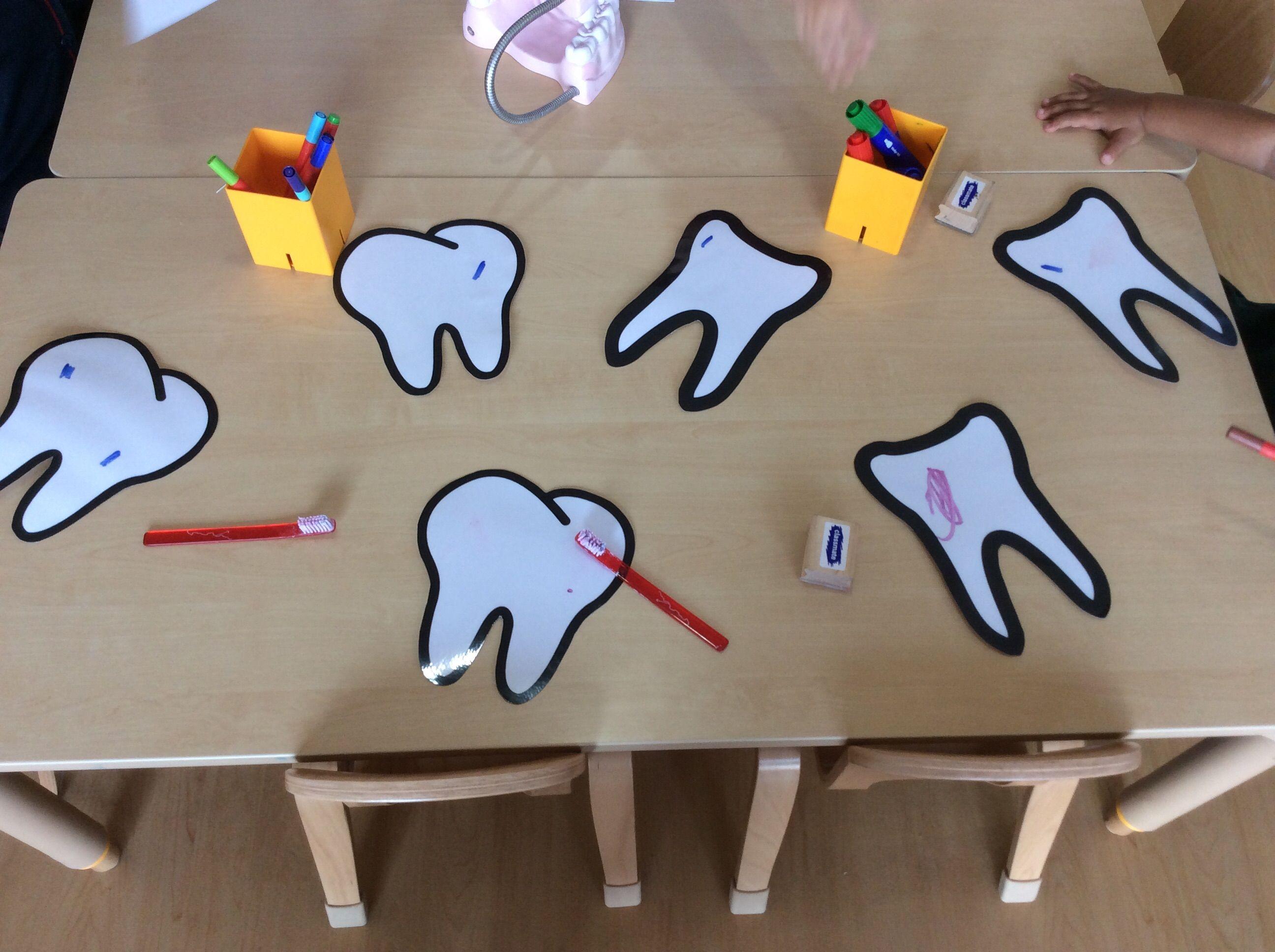 Dentist Teeth Healthy Eating Theme People Who Help Us Topic Mark Making Activity Laminated Teeth