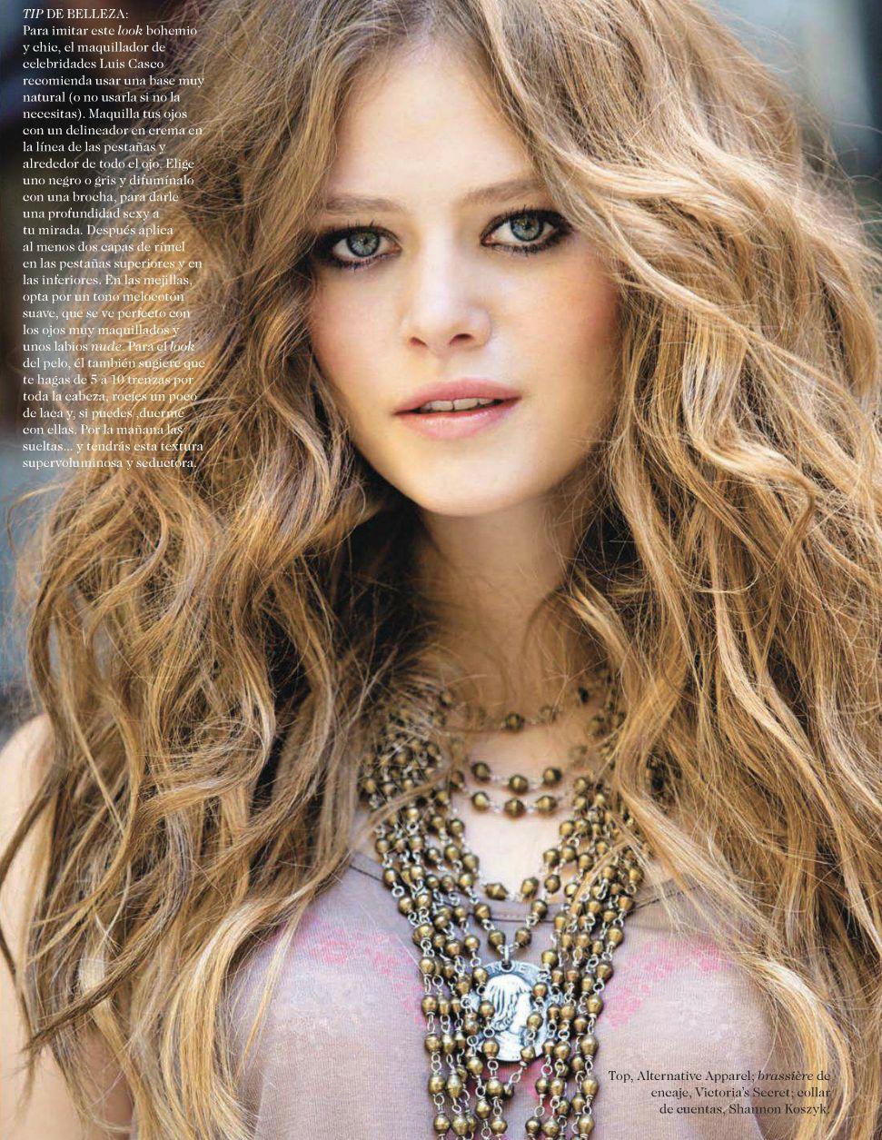 Bohemian Beauty Fashion Bohemian Chic Makeup And Hair