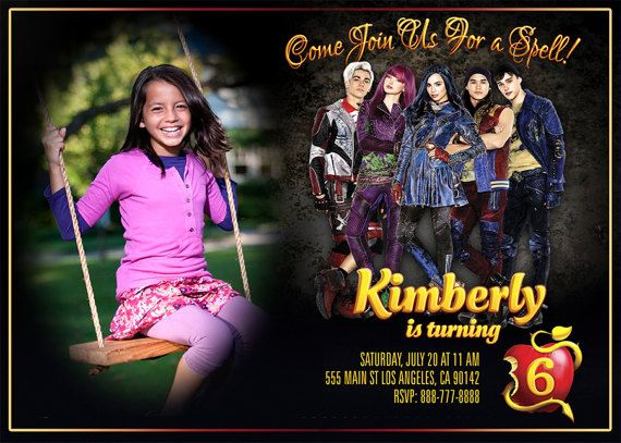 Descendants 2 Invitation Birthday By BogdanDesign