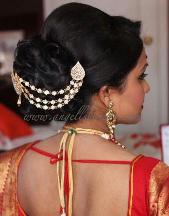 35 Hairstyle For Short Hair On Nauvari Saree New Inspiraton
