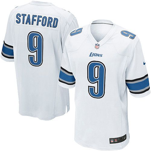 youth nike detroit lions 9 matthew stafford elite white nfl jersey
