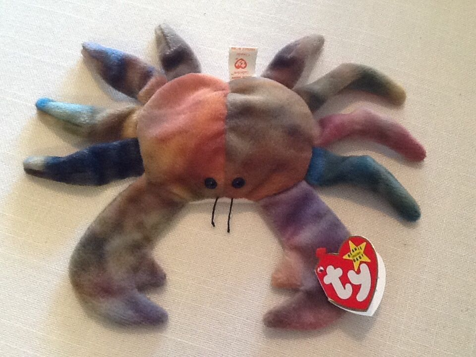 TY Beanie Baby CLAUDE The Crab Extremely Rare several errors 3rd Gen.  RETIRED 58311b0f6229