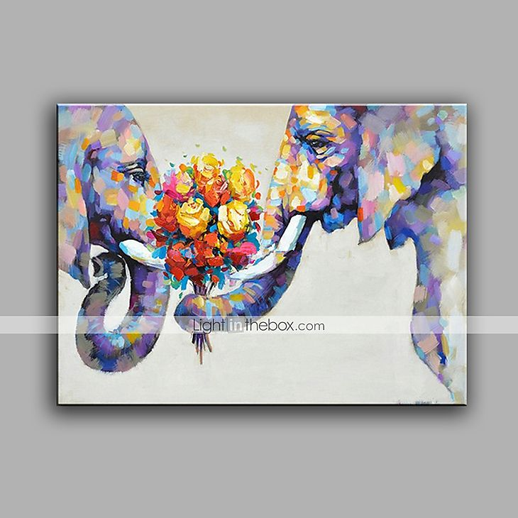 1d4559f0d0b1 Hand-Painted Abstract Animal Square Modern One Panel Canvas Oil Painting  For Home Decoration 5560613 2017 – €53.30