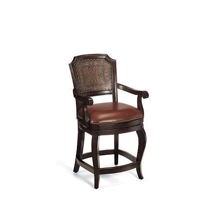 Dunsmore Counter Height Bar Stool 24 H Seat 31 3 8 H Arms