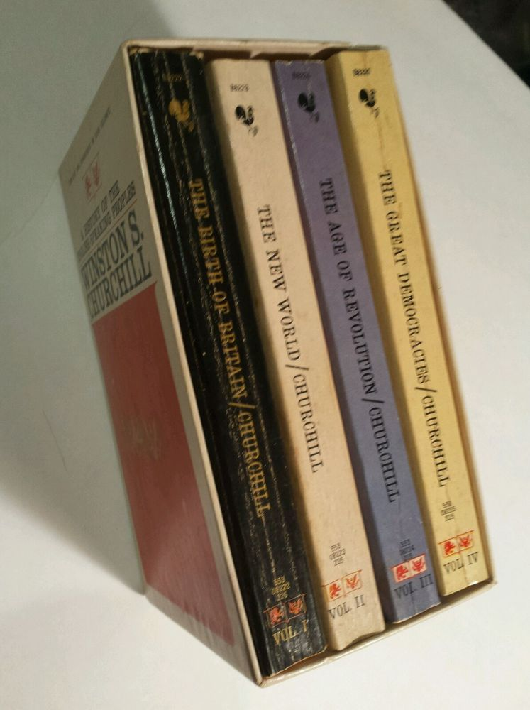 Winston Churchill History Of The English Speaking People 4 Vol Boxed Set Boxset Winston Churchill Book Lists
