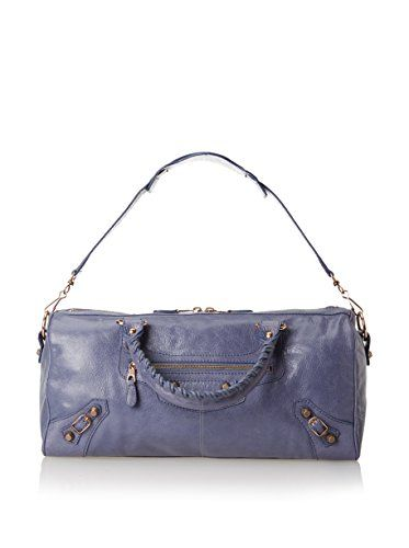 Classically stylish dual handled design with an optional shoulder strap features an outer zip pocket along with inner zip and slip pockets