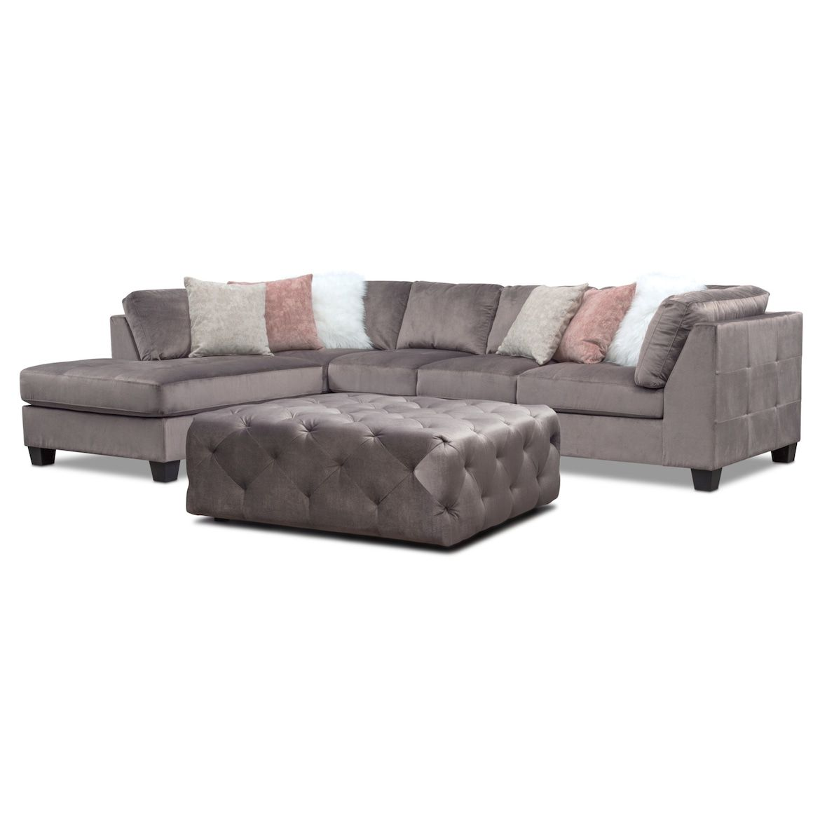 Best Mackenzie 2 Piece Sectional And Ottoman Set In 2019 400 x 300