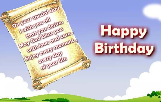 Send a Birthday letter on your loved ones birthday in the form of – Send a Birthday E Card