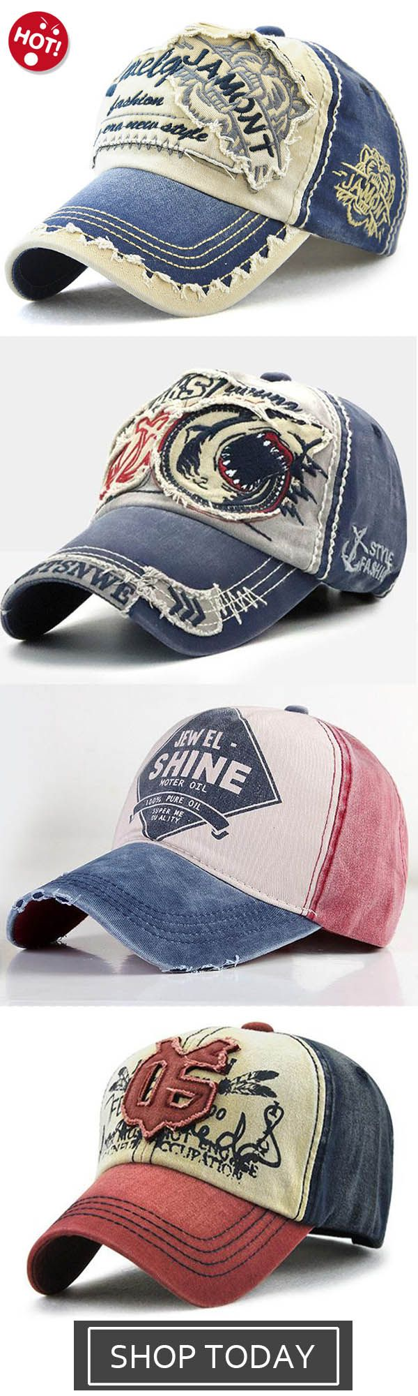 6eb201ead2e94d Men Vintage Patch Embroidered Letter Sunshade Hat Baseball Caps,Washed Baseball  Cap Fashion Shark Peaked