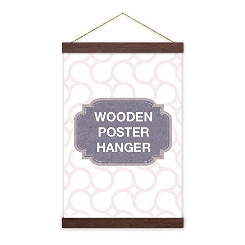 Walnut Wooden Poster Hanger Magnet Self Assembly 37 Inch 93 98cm Pre Installed Neodymium Magn Poster Hanger Picture Frame Shop Picture Framing Materials