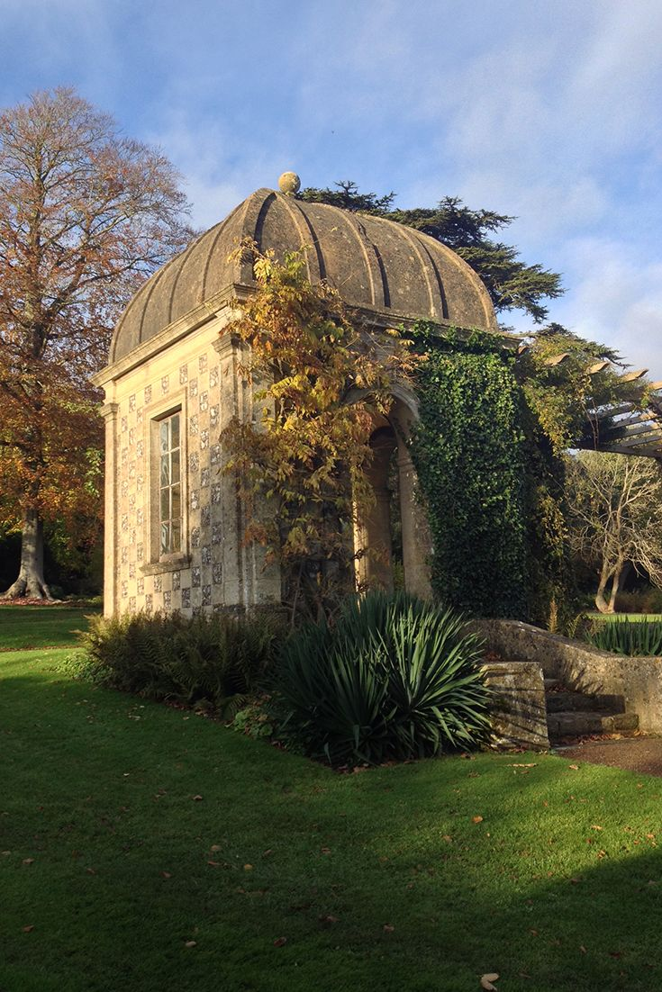 Gazebo in the sun at West Dean Gardens. Come and admire the 300ft ...