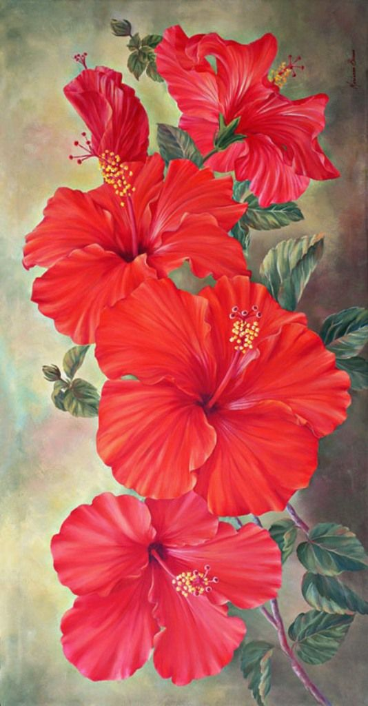 Marianne Broome Akrilovaya Zhivopis Watercolor Flowers Tutorial Flower Art Painting Abstract Tree Painting