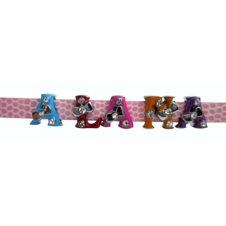 Build Your Own Name Bracelet On Beautiful Pink Watch Strap With Colorful Letters Alana Decorated Tiny Rhinestones Simple Can Get A