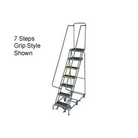 10 Step 24 W Grip All Directional Steel Ladder Ladder Rolling Ladder Steel