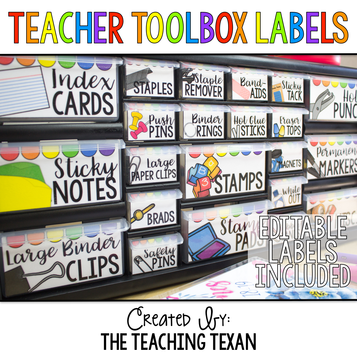Bright Teacher Toolbox Labels Editable Template Included Teacher Toolbox Labels Teacher Toolbox Labels Editable Teacher Toolbox