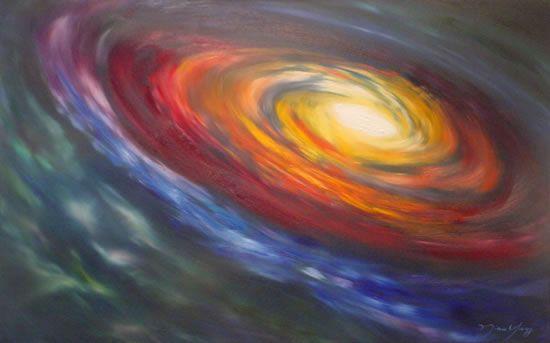 Painting - Rainbow Galaxy