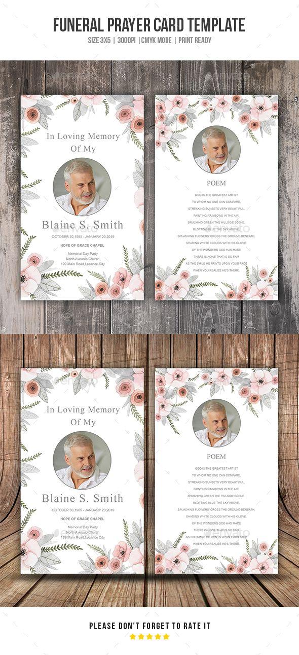 Funeral Prayer Card Template Funeral Prayers Card Templates Free Prayer Cards Printable