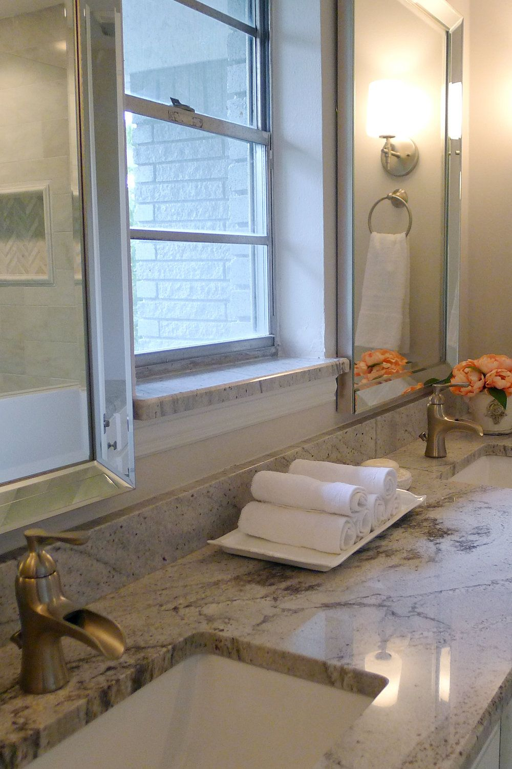 Pig + Tiger Renovation | Master Vanity White Marble | Pig and Tiger ...