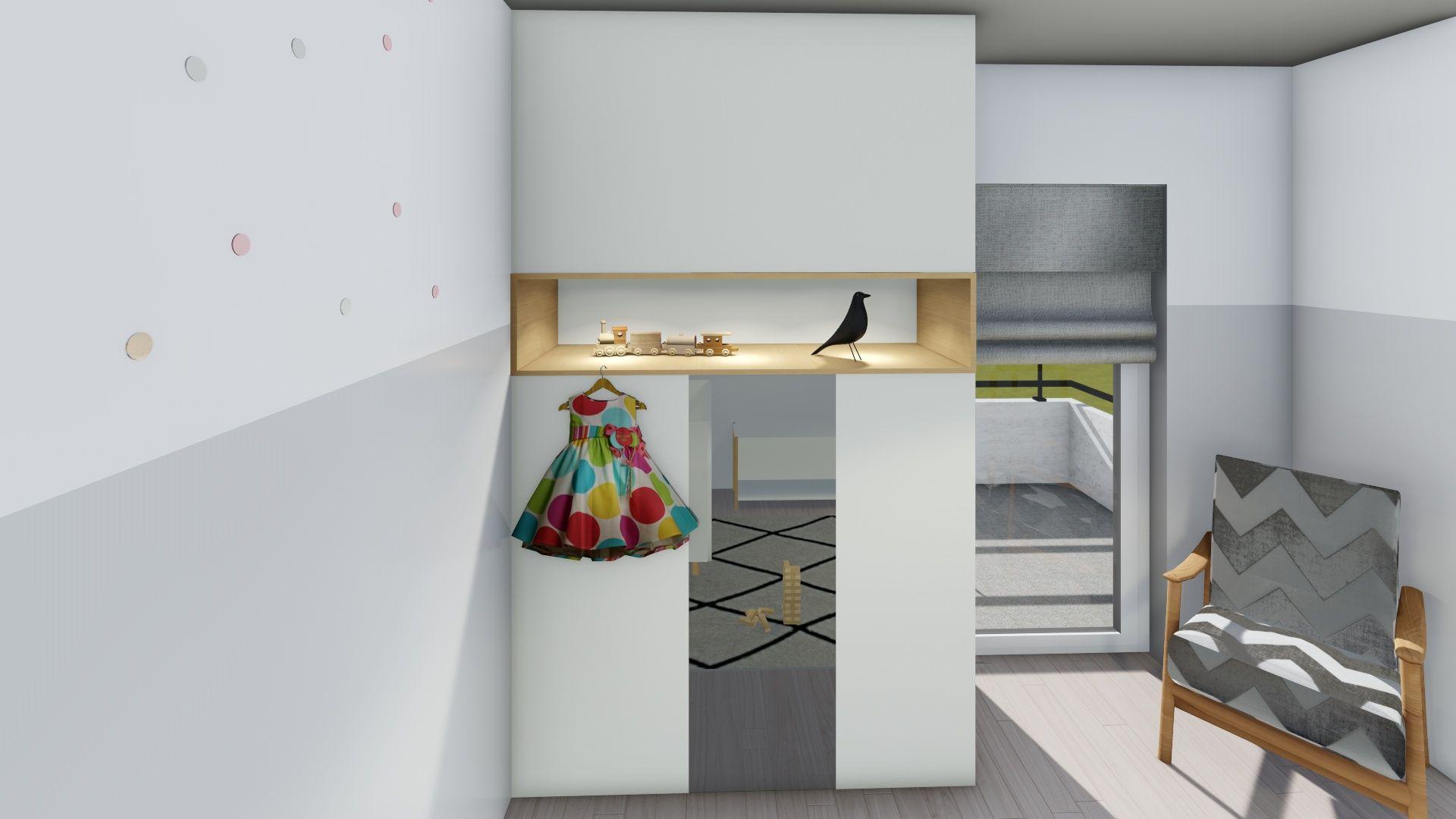 rendu 3d lumion agencement de meuble placard sur-mesure blanc niche