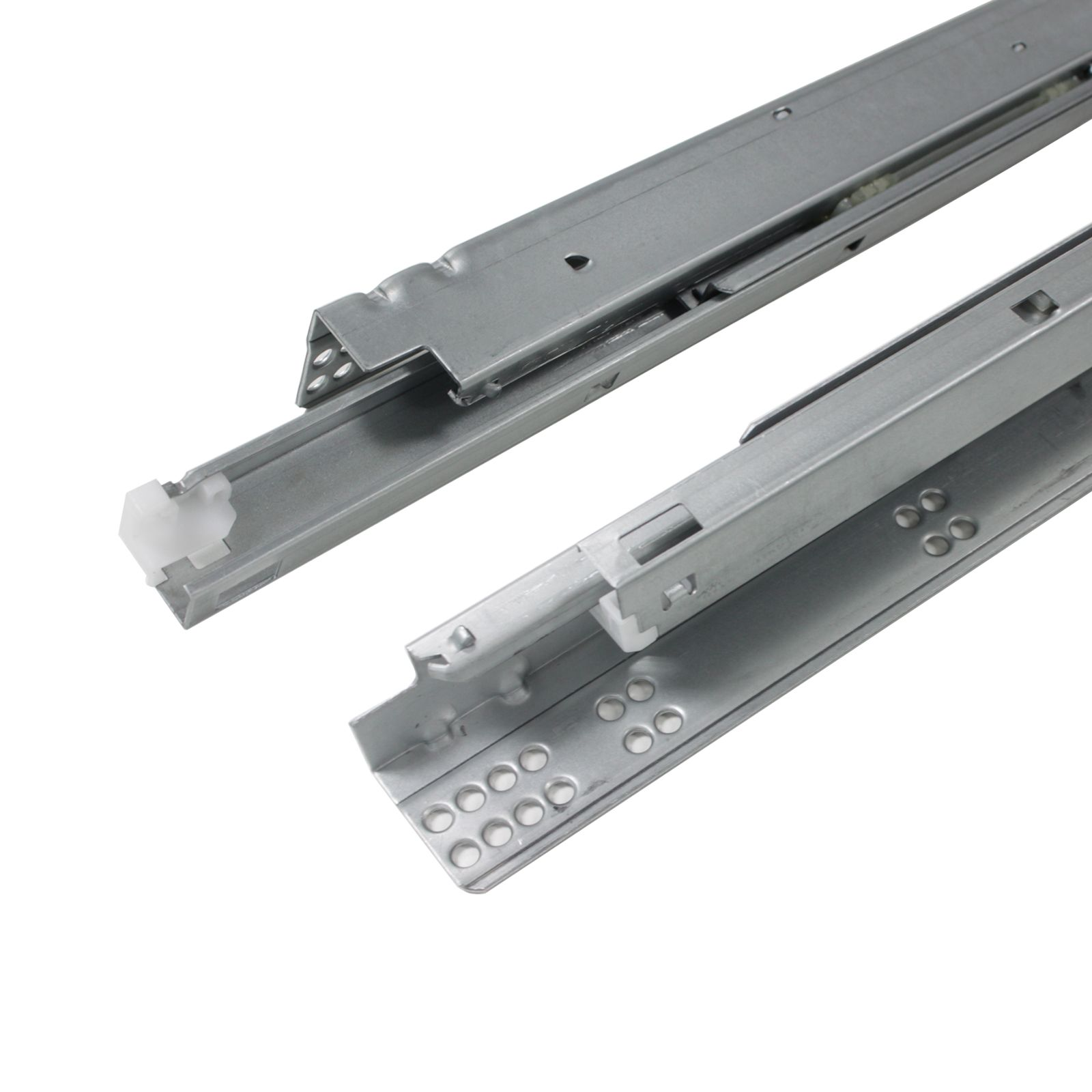 TCH Hardware 2 x 16 Inch 100 LB Steel Full Extension Ball Bearing Drawer Slides Kitchen Cabinet Desk Draw