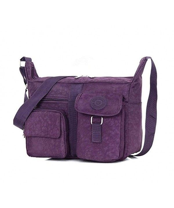 0f0df921a8 Womens Solid Color Sports Packet Canvas Shoulder Bags - Purple ...