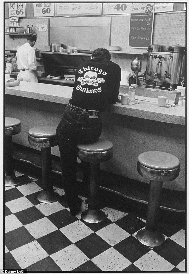 Jack, Chicago, 1960s. Danny snaps a member perching on a stool at a diner