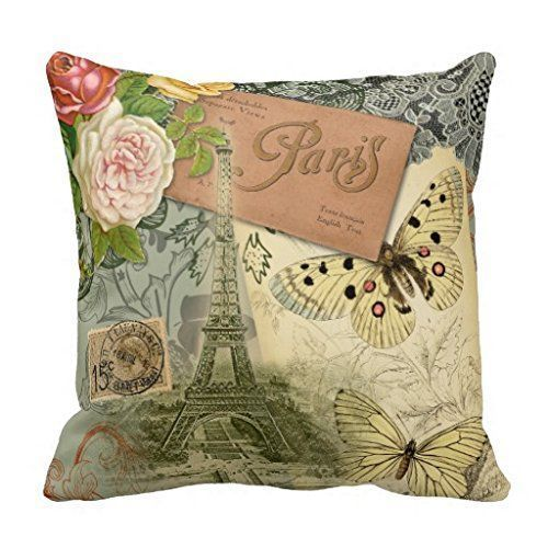 Romantic Cute And Trendy Paris Themed Home Decor Throw Pillow Stunning Paris Themed Decorative Pillows