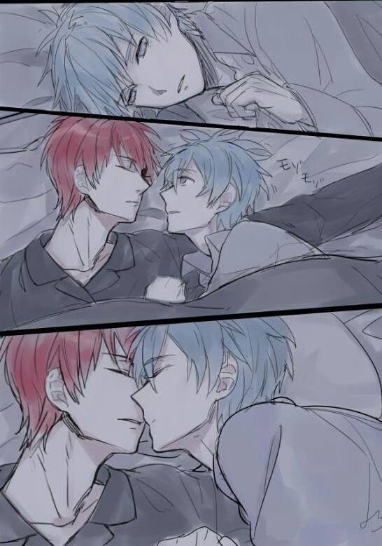 Akashi x Kuroko| he just felt like giving Akashi a peck~ | Kuroko no