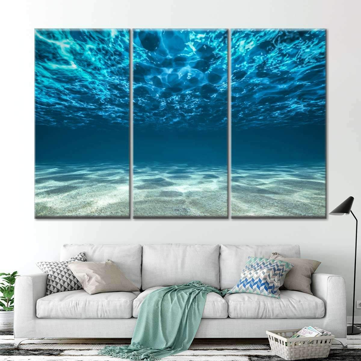 Underwater Multi Panel Canvas Wall Art In 2020 Multi Panel Canvas Ocean Canvas Canvas Wall Art