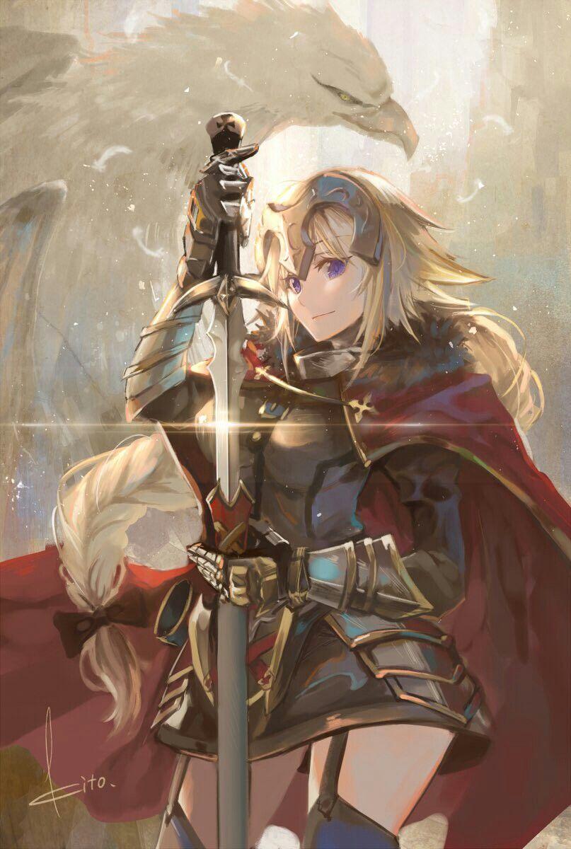 Ruler (Jeanne D'Arc) Joan of arc fate, Anime, Character art