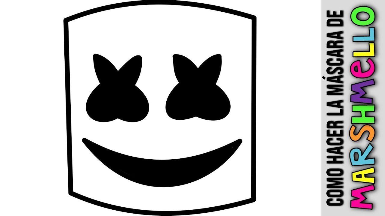Como Hacer El Casco De Marshmello Diy Mascara De Papel