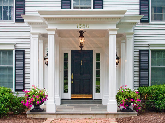 Our Colonial Home The Before Tour Colonial Clarks And Porch - Colonial portico front entrance